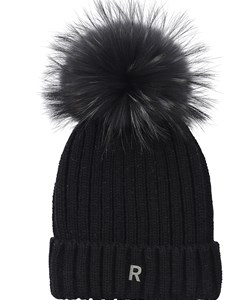 ROCKANDBLUE Pom Pom Hue. Model: Beanie. Black / Blackish Raccoon. Must-have: 299,- V.I.P.  Pris : 239,-