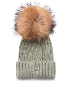 ROCKANDBLUE Pom Pom Hue. Model: Beanie. Army / Natural Raccoon. We Love: 299,- V.I.P. Pris : 239,-