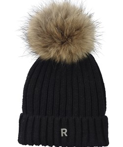 ROCKANDBLUE Pom Pom Hat Beanie. Black / Natural Raccoon. Must-Have: 299,-  V.I.P. Pris: 239,-